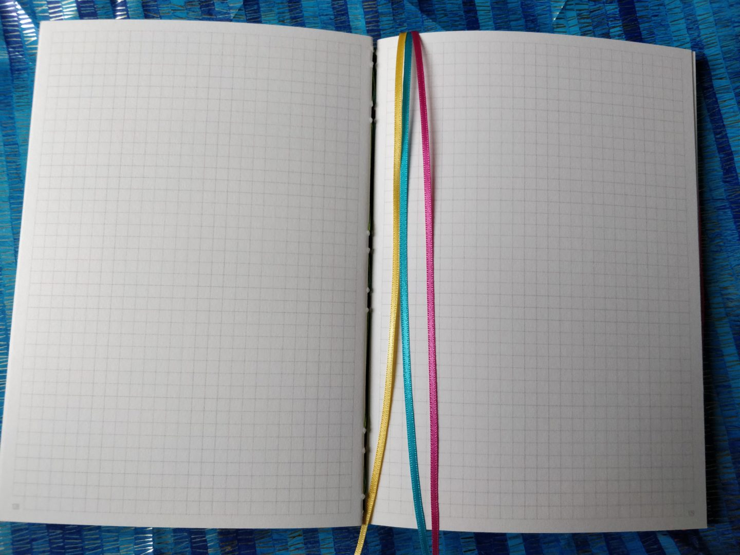 Avalon Rainbow Notebook from The Citrus Book Bindery inside