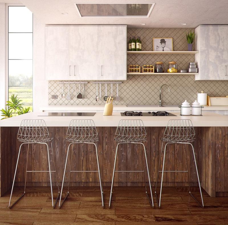 modern farmhouse style kitchen